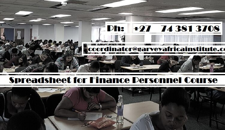 Spreadsheet for Finance Personnel Course south africa